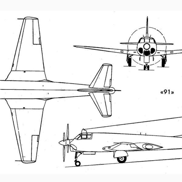 5.Самолет 91. Схема.