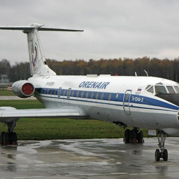 5.Ту-134А-3 на стоянке.