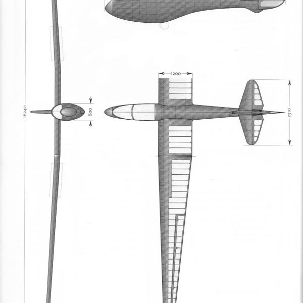 5б.Проекции планера А-9.