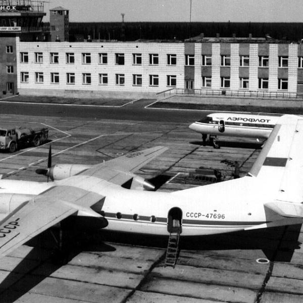 6.Ан-24 в аэропорту г.Усинск.