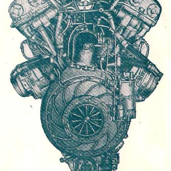 6.Двигатель АМ-38Ф. Вид сзади.