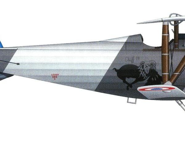 6.Nieuport N.24 ВВС Франции. Рисунок.