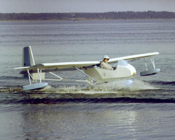 6.СА-9М на Киш-озере на буксире за моторной лодкой.