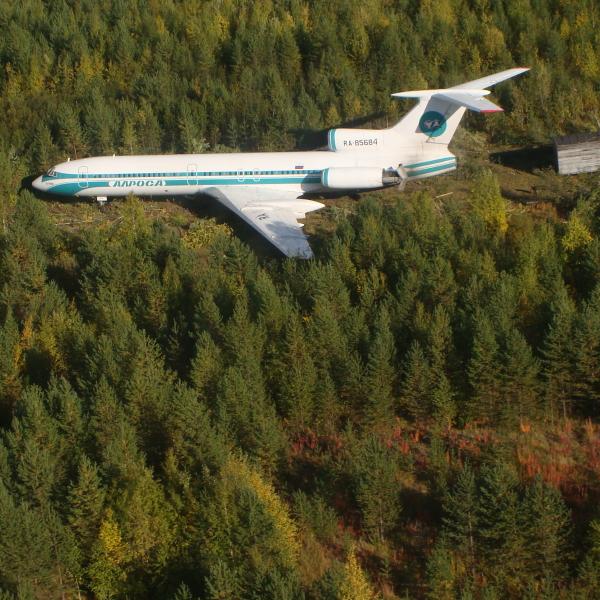 6.Ту-154М Алроса после знаменитой посадки.