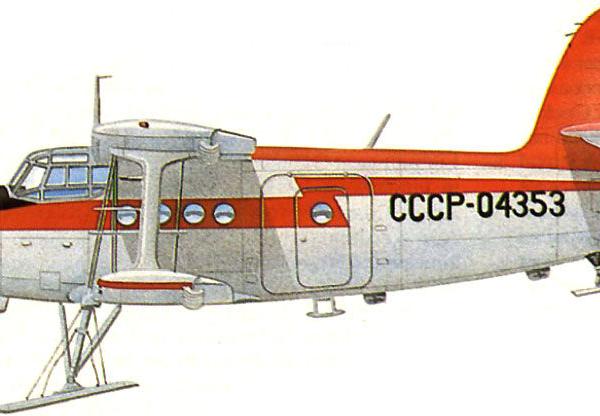 7.Ан-2 Лыжный. Рисунок.