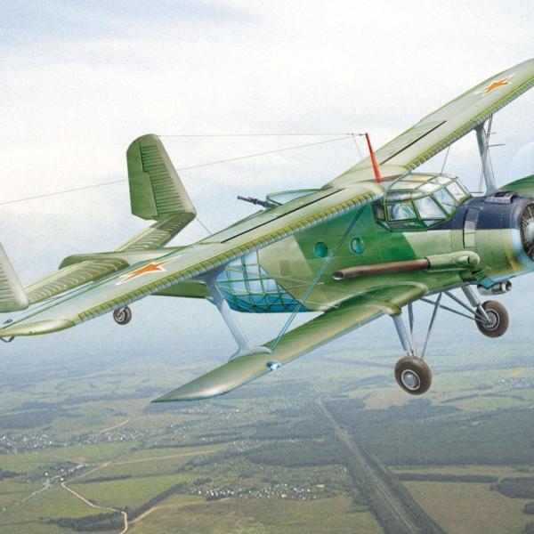 7.Ан-2НАК в полете. Рисунок.
