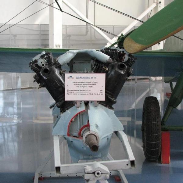 7.Двигатель М-17 в экспозиции самолета Р-5. Музей ВВС Монино