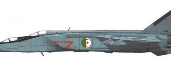 7.МиГ-25ПУ ВВС Алжира. Рисунок.