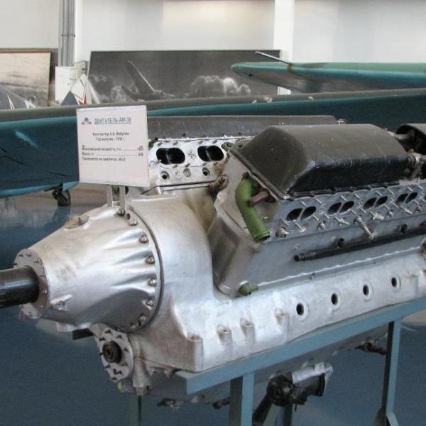 8.Двигатель АМ-38 в музее ВВС Монино