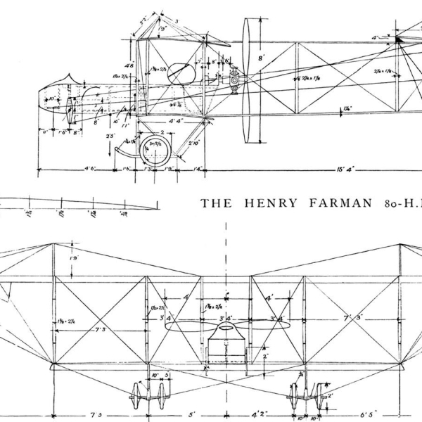 8.Farman F.XX. Чертеж 1.