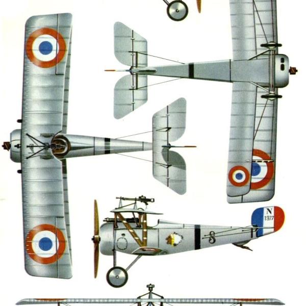 8.Проекции Nieuport N.17 ВВС Франции. Рисунок.