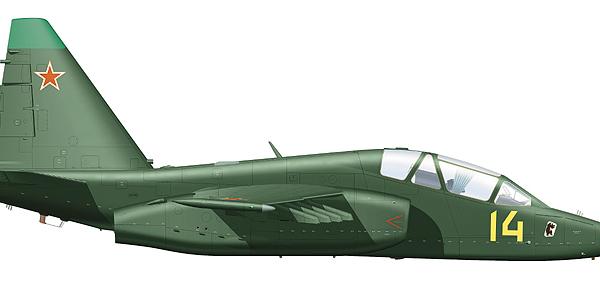 8.Су-25УБ ВВС СССР. Рисунок.