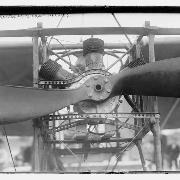 8.Трехцилиндровый двигатель Anzani на Bleriot XI