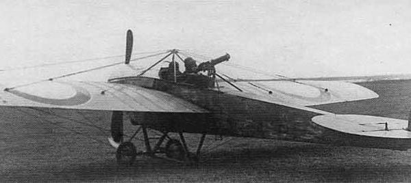 9.Nieuport.IV с самодельной турельной установкой.