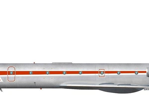 9.Ту-134УБ-Л ВВС СССР. Рисунок.