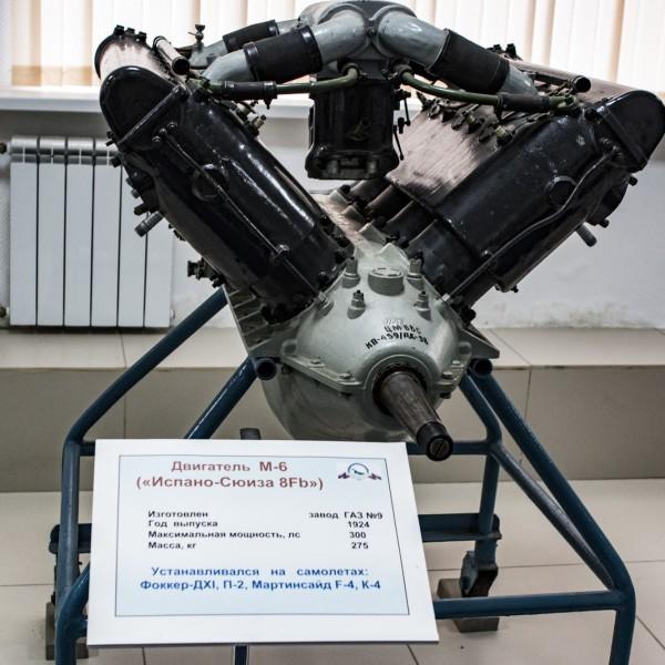 Двигатель М-6 в музее ВВС Монино