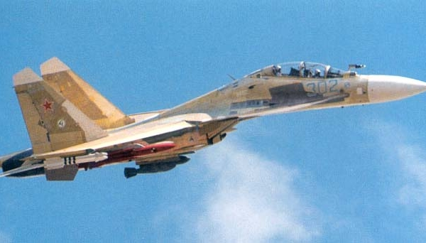 1.Один из первых полетов Су-30КН.
