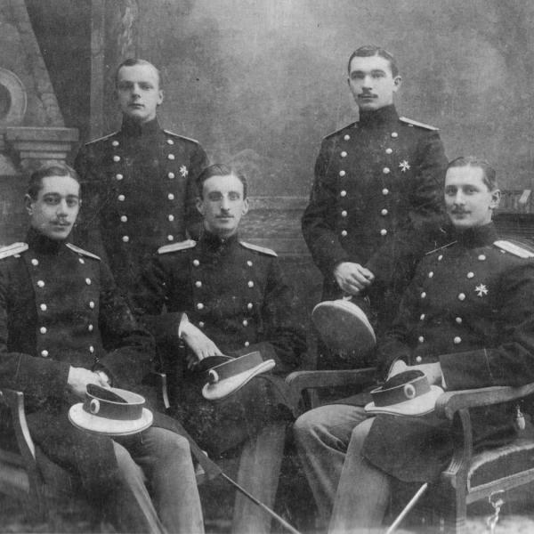 1.Офицеры Кавалергардского полка. Воеводский Николай Степанович сидит крайним справа.