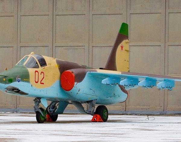 1.Су-25СМ из первой партии во дворе 121-го АРЗ.