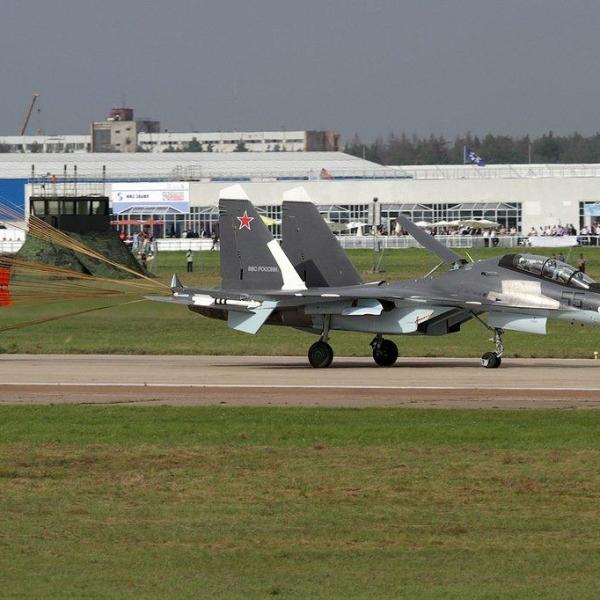 10.Су-30СМ ВВС России после посадки.