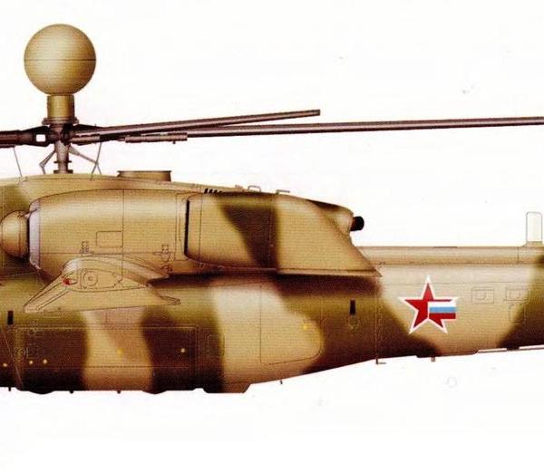 11.Первый опытный Ми-28Н. Рисунок.