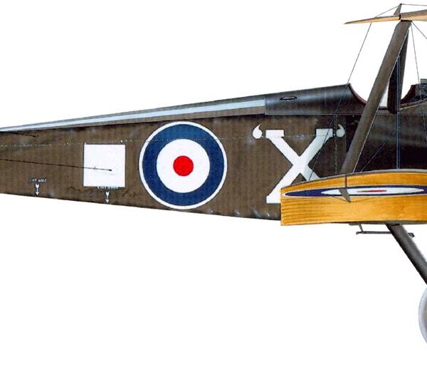 11.Sopwith F.1 Camel ВВС Англии. Рисунок.
