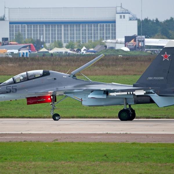11.Су-30СМ ВВС России после посадки. 2