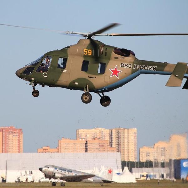 11.Вертолет Ансат-У после взлета.