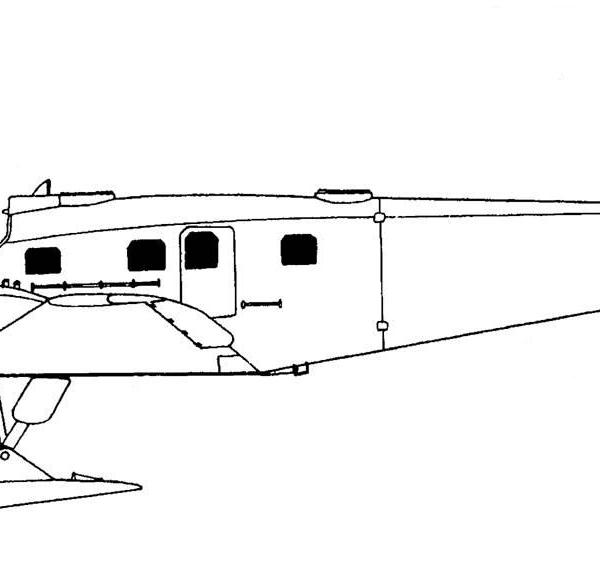 11.ЮГ-1 на лыжах. Схема.