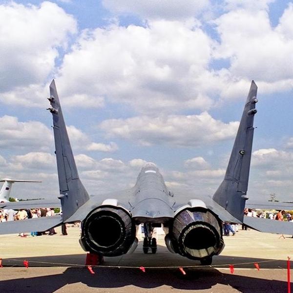 12.Отклоняемые сопла двигателей МиГ-29ОВТ