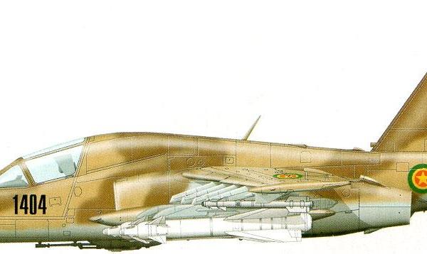 13.Су-25ТК ВВС Эфиопии. Рисунок.