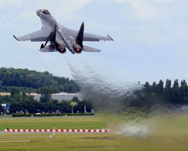 13.Взлёт Су-35С в Ле Бурже. 2013 г.