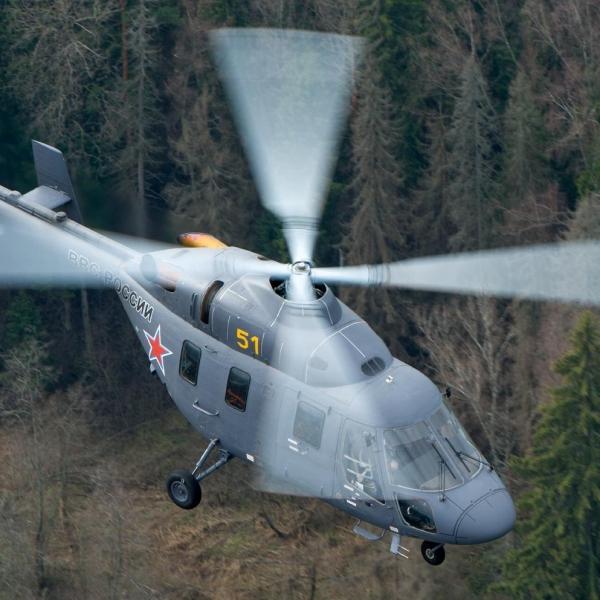 16.Вертолет Ансат-У в полете.