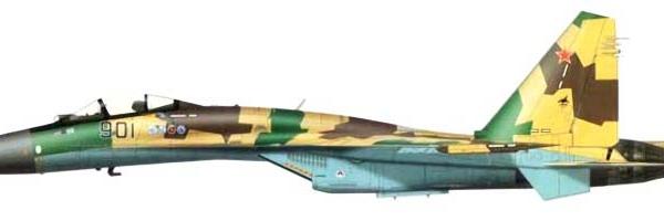 19.Первый прототип Су-35С. Рисунок.