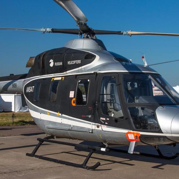 1а.Вертолет Ансат на стоянке авиасалона.