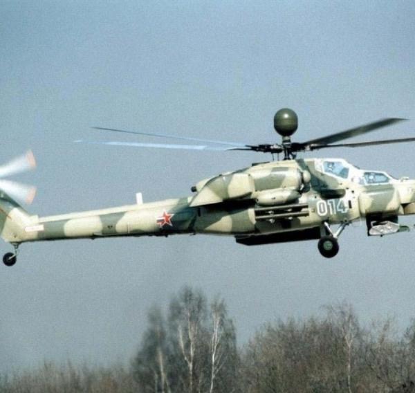1б.Опытный Ми-28Н в полете.