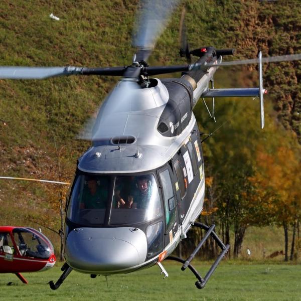 1б.Вертолет Ансат на взлете.
