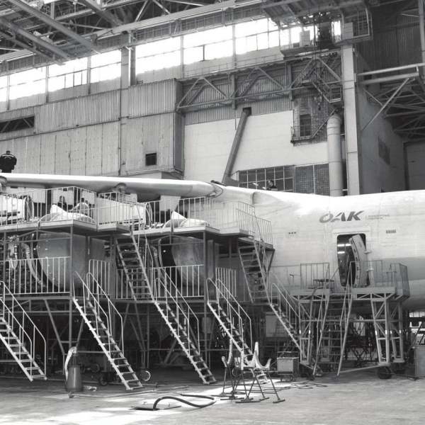 2.Ил-76МД-90А на стапеле (цех № 300) Авиастар-СП