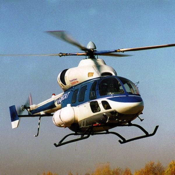 2.Вертолет Ансат в полете.