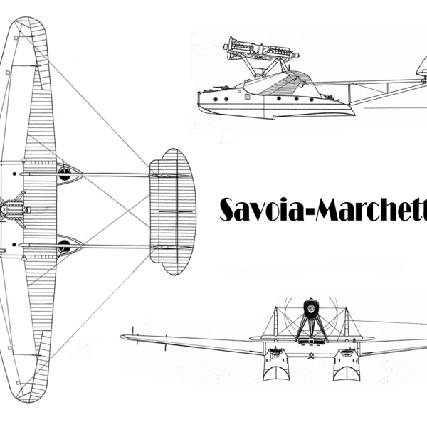 23.Savoia-Marchetti S.55. Схема 1.