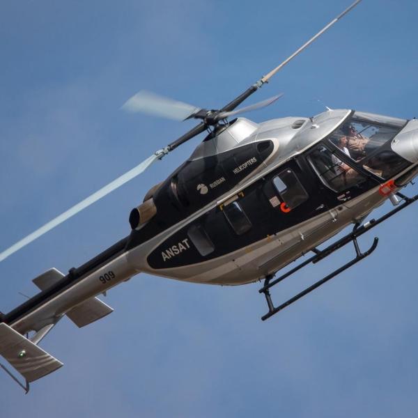 2а.Вертолет Ансат в полете.