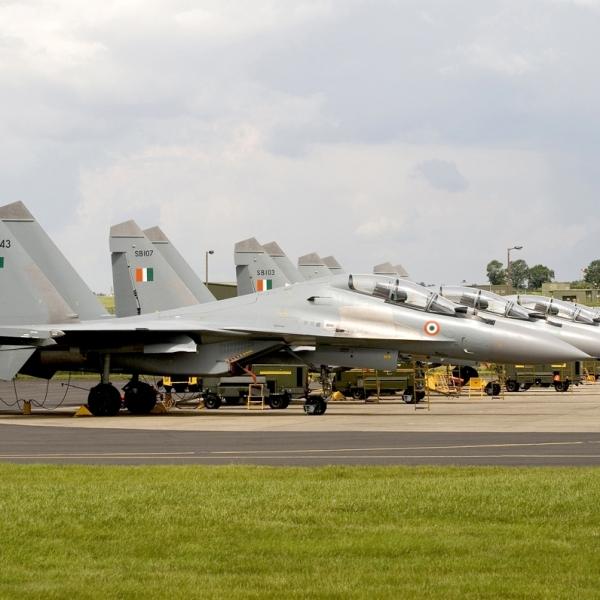 3.Линейка Су-30К ВВС Индии.