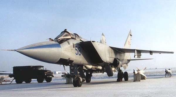 3.МиГ-31ФЭ.