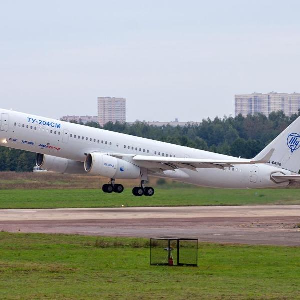 3.Ту-204СМ на взлете.