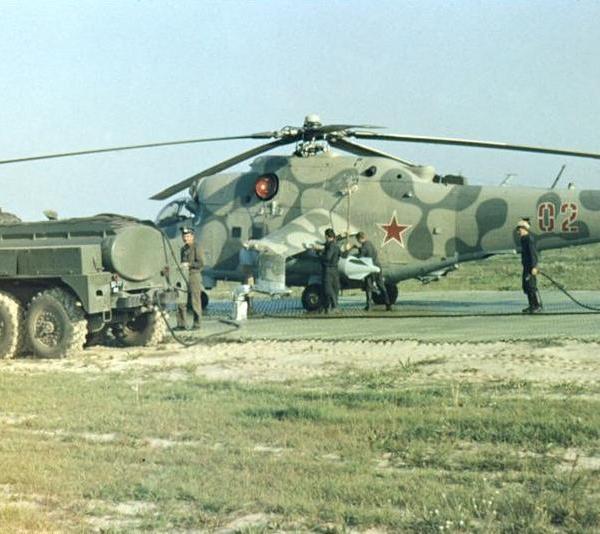 3.Заправка вертолета Ми-24РХР.