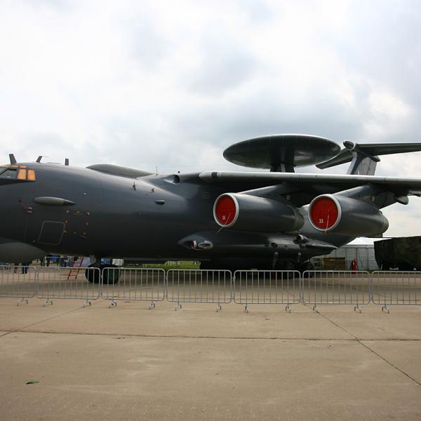 3б.Самолет ДРЛОиУ А-50У на авиавыставке МАКС-2013.