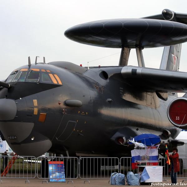 3в.Самолет ДРЛОиУ А-50У на авиавыставке МАКС-2013.