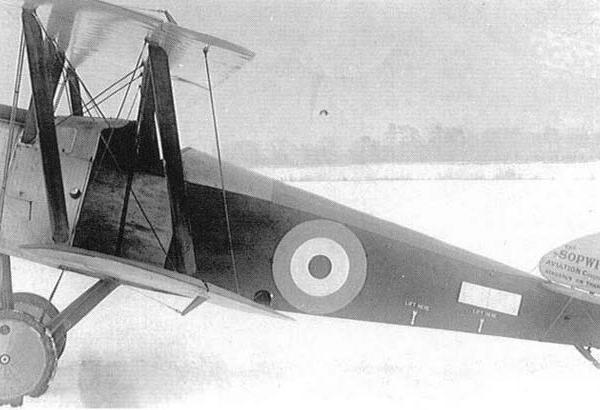4.Истребитель Sopwith F.1 Camel ВВС Англии.