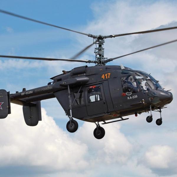 4.Ка-226 ВВС России в полете.