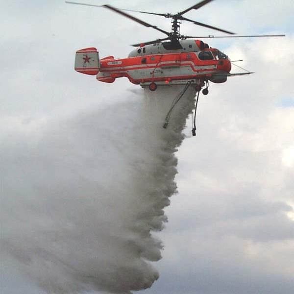 4.Сброс воды с Ка-32А1.